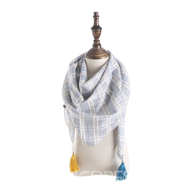 Ericdress Cute Winter&Autumn Grid Tassel Kid's Scarf