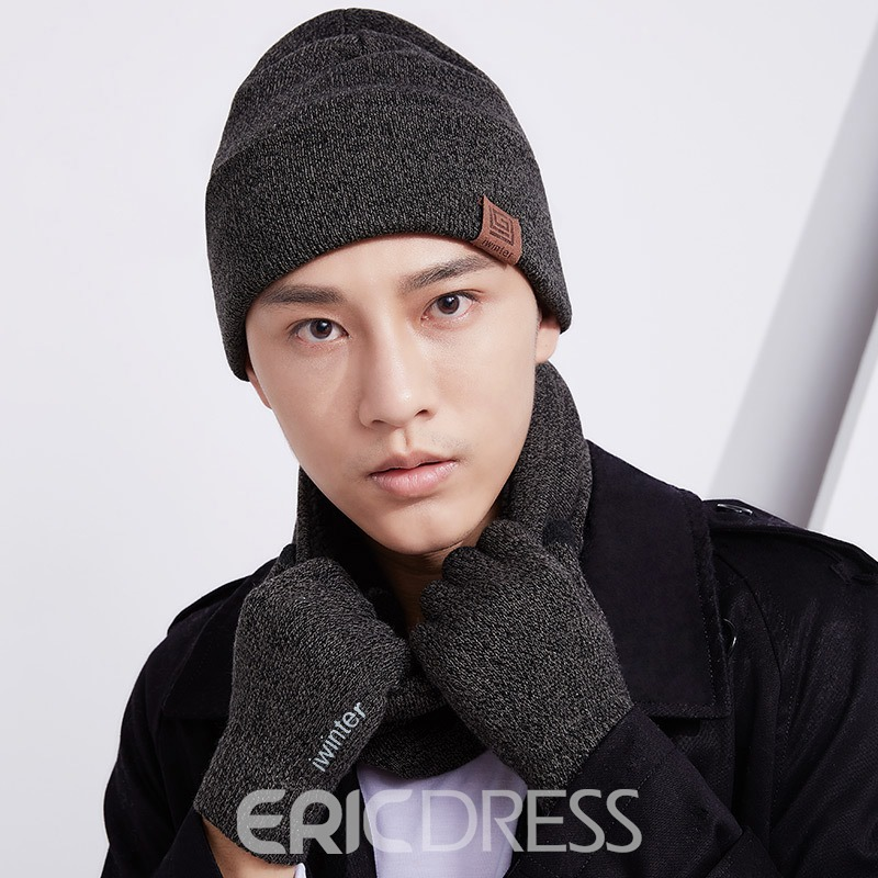Ericdress High Quality Men's 3-Piece Hat&Scarf&Gloves