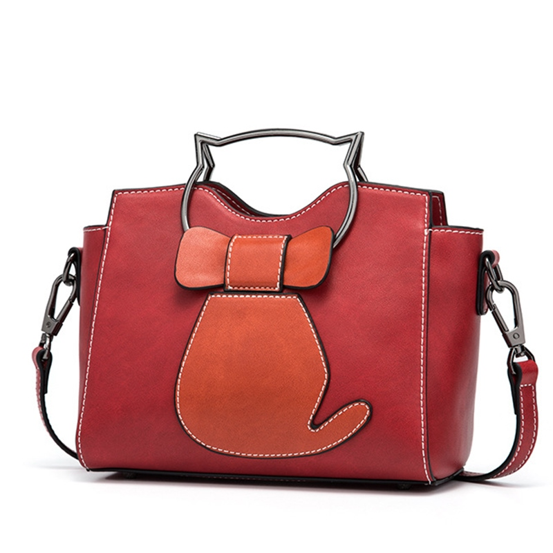 Ericdress Kitty Head Handle Design Women Crossbody Bag