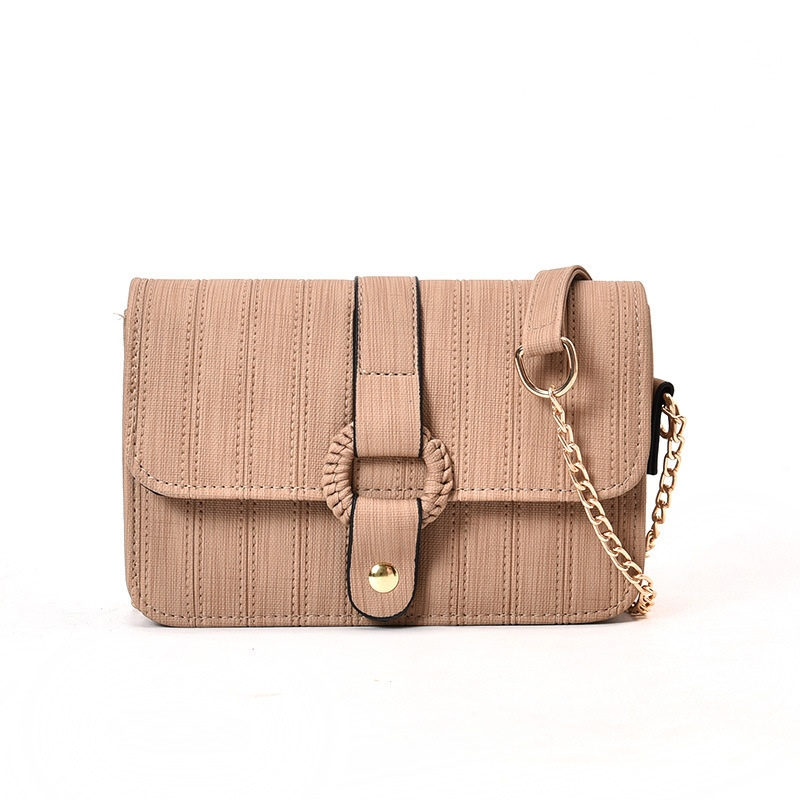Ericdress Korean Style Solid Color Chain Crossbody Bag