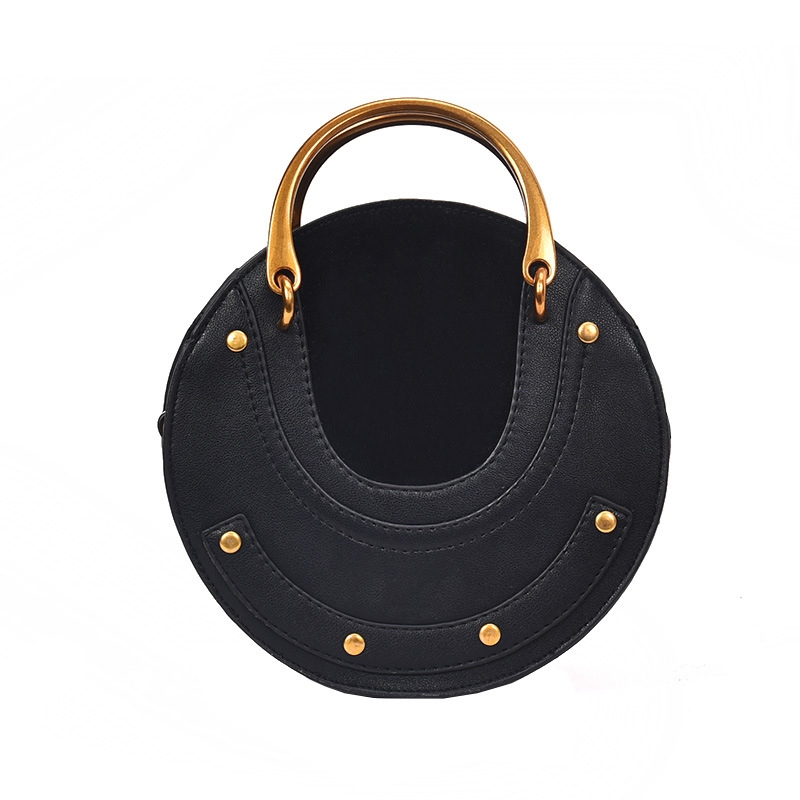 Ericdress Circular Shape Matel Handle Women Handbag