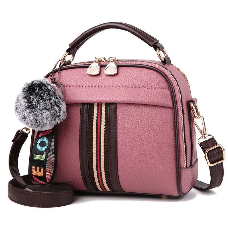 Ericdress Korean Style Patchwork Design Soft PU Handbag