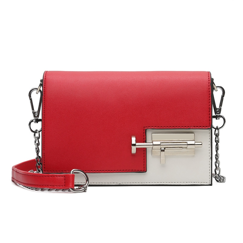 Ericdress Personality Lock Decoration Block Crossbody Bag