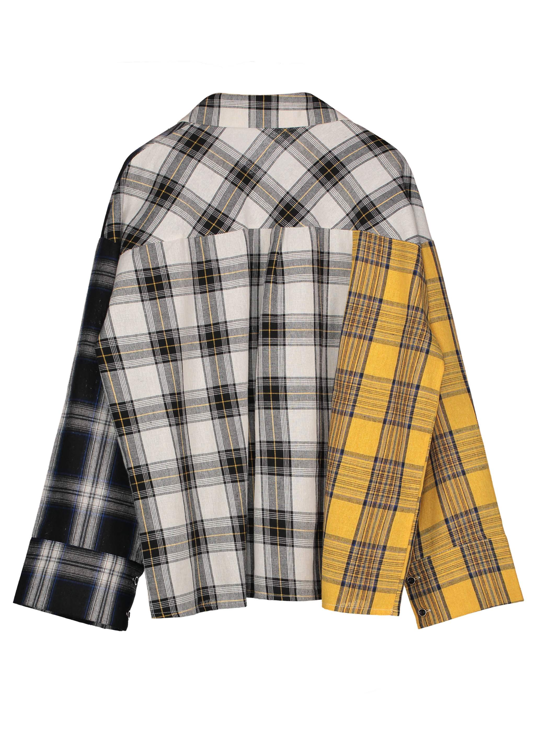 Ericdress Loose Color Block Plaid Women's Shirt