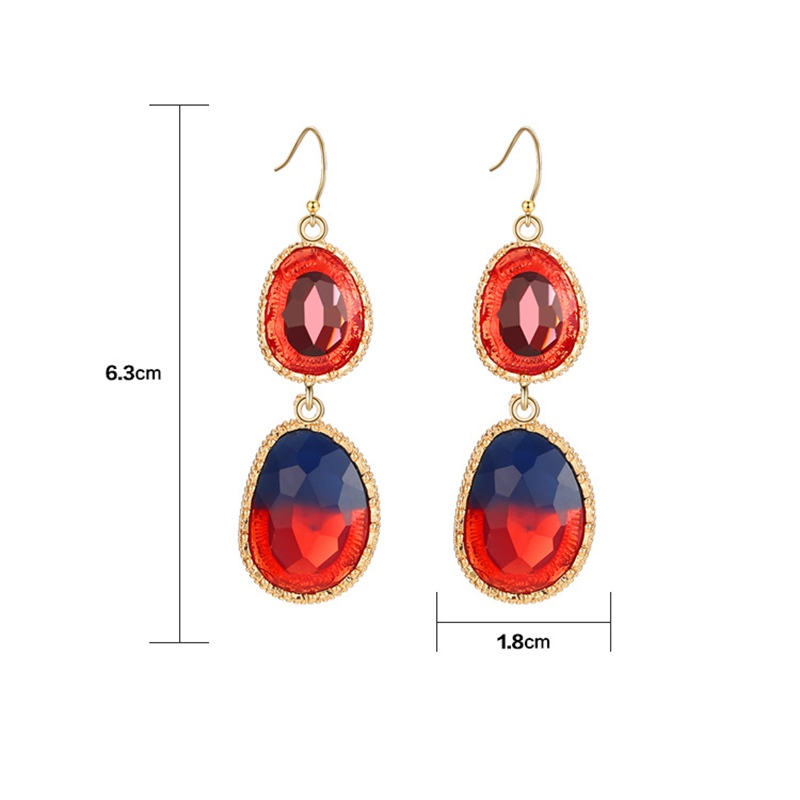 Ericdress Bicolourable Drop Earrings