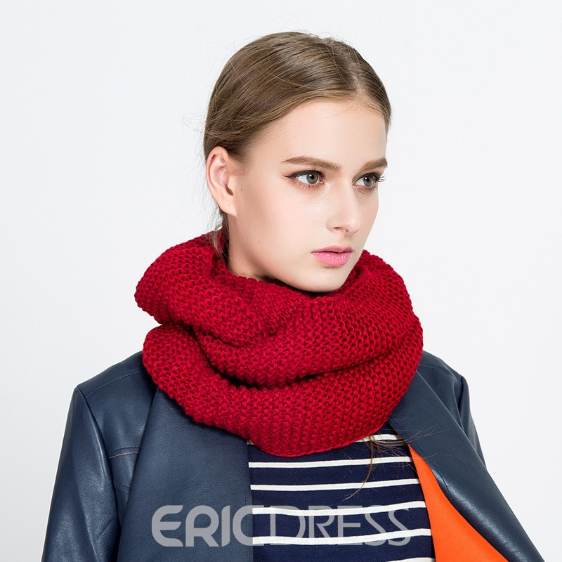 Ericdress Pure Color Knitting Thicken Warm Scarf