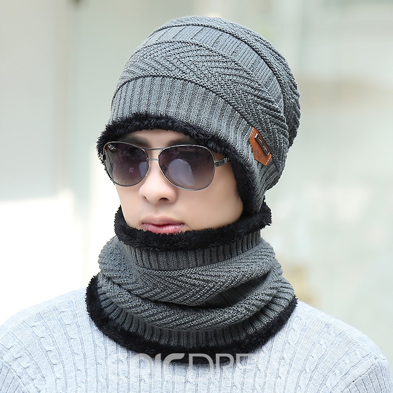 Ericdress Winter Knitting Hat&carf for Men