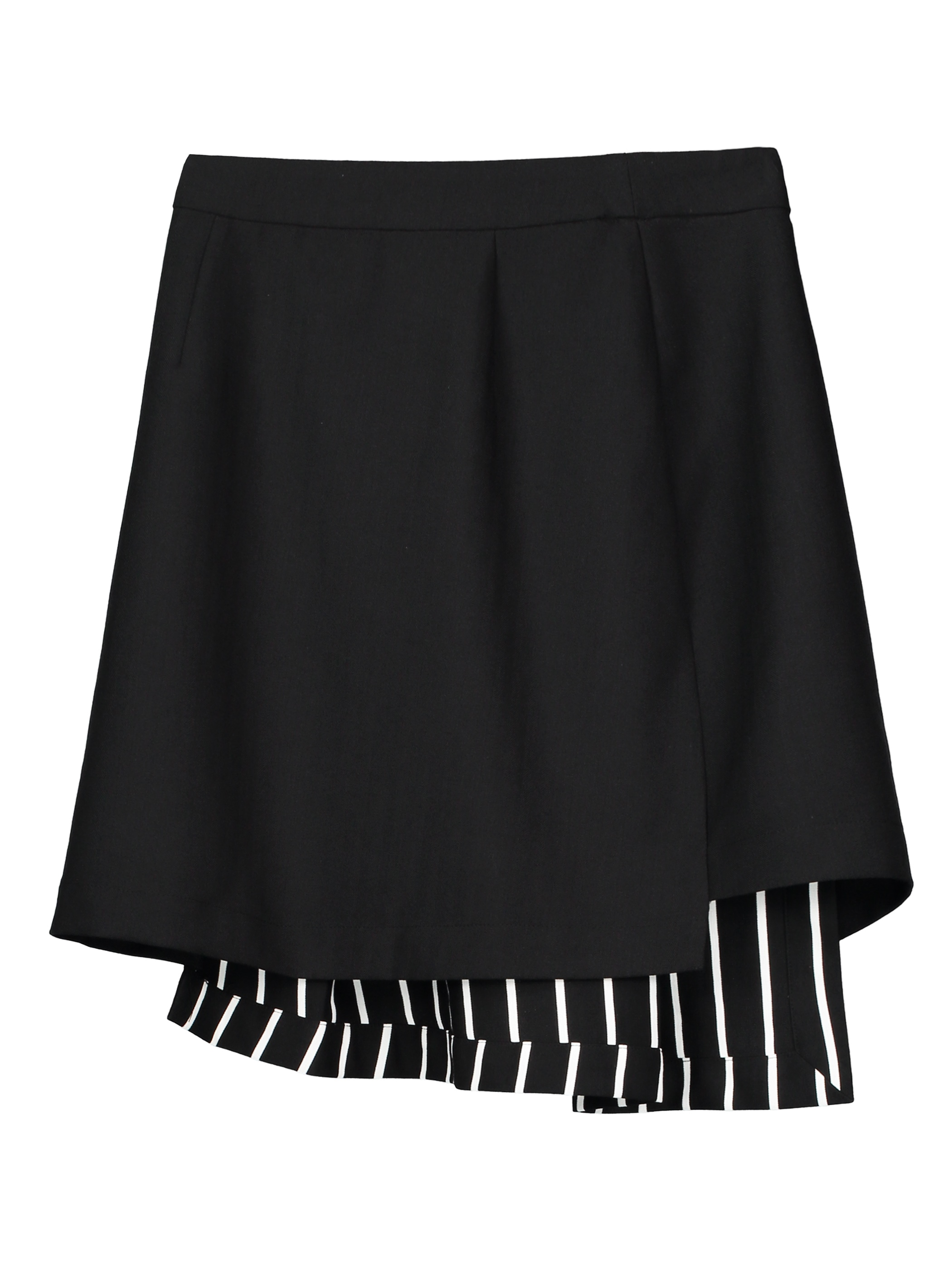 Color Block Asymmetrical Women's Mini Skirt