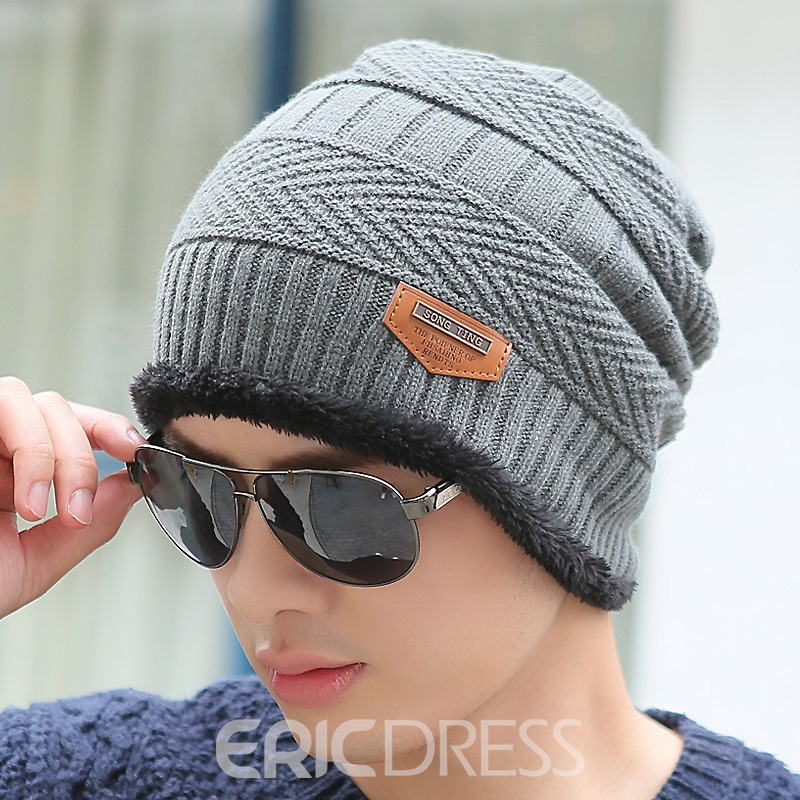 Ericdress Knitting Warm Outdoor Men's Hat
