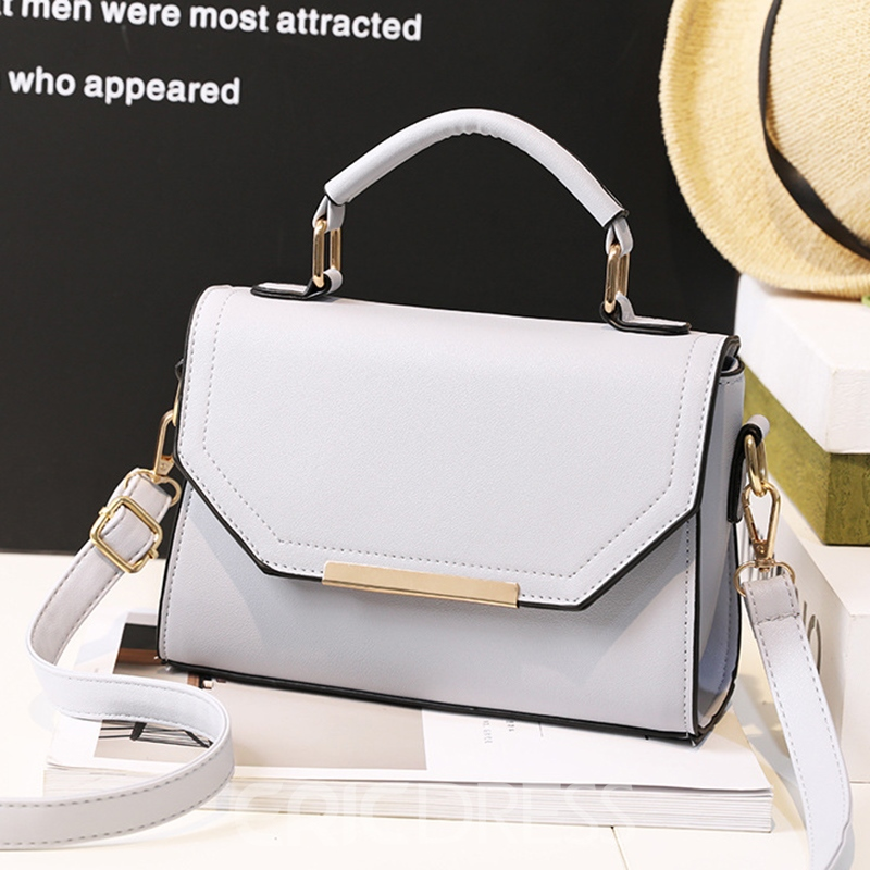 Ericdress Concise Solid Color Crossbody Bag