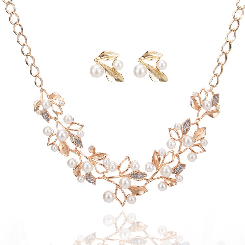 Ericdress Sparkling Dimante Imitation Pearl Jewelry Set