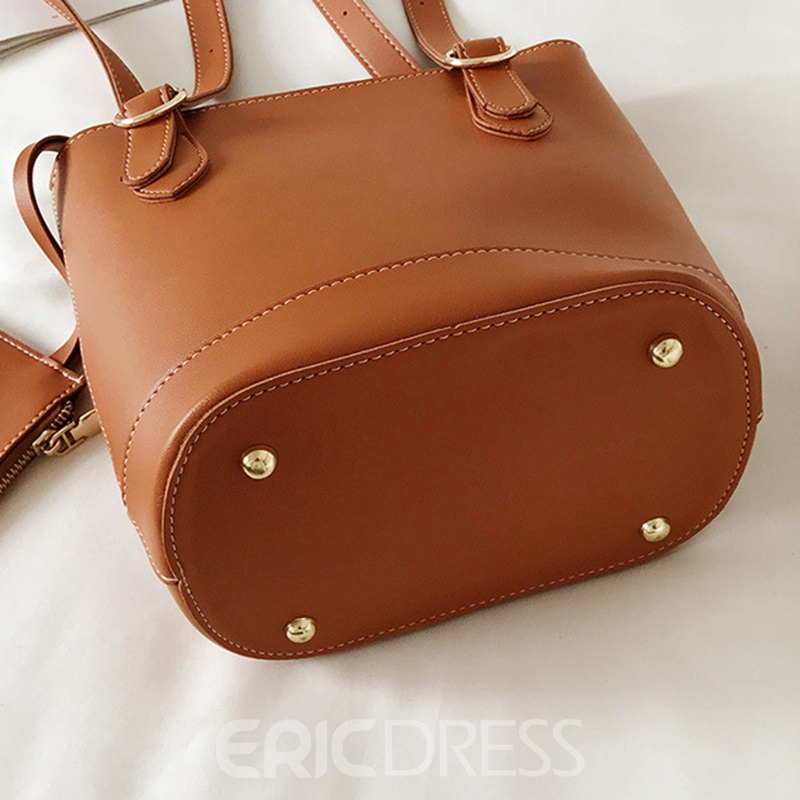 Ericdress Vintage Soft PU Zipper Shoulder Bag
