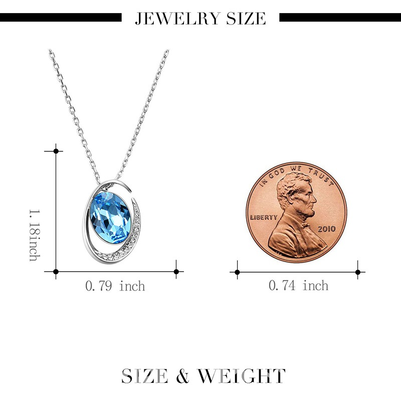 Ericdress High End Sapphire Pendant Jewelry Set for Women
