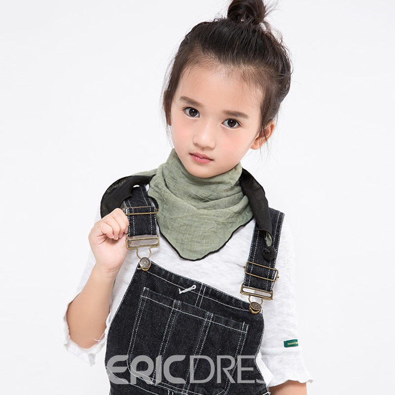 Ericdress Pure Color Triangle Towel Kid's Scarf