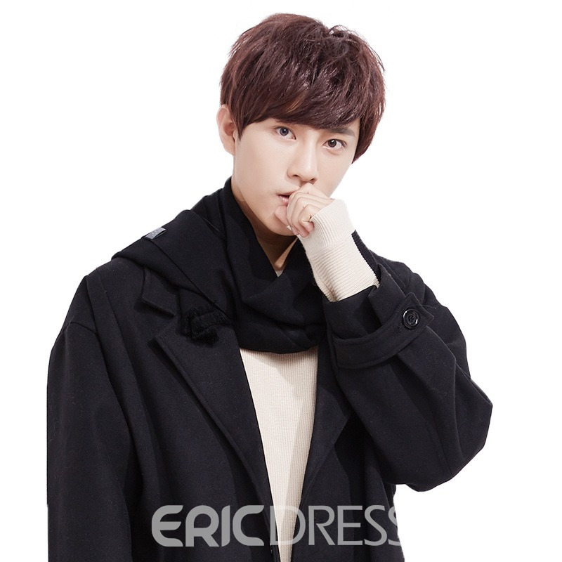 Ericdress Stylish Men's Long Imitation Cashmere Soild Color Men's Scarf