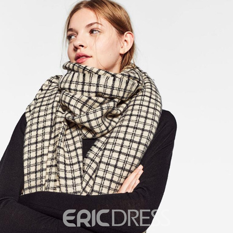 Ericdress British Style Classic Grid Thicken Women's Scarf