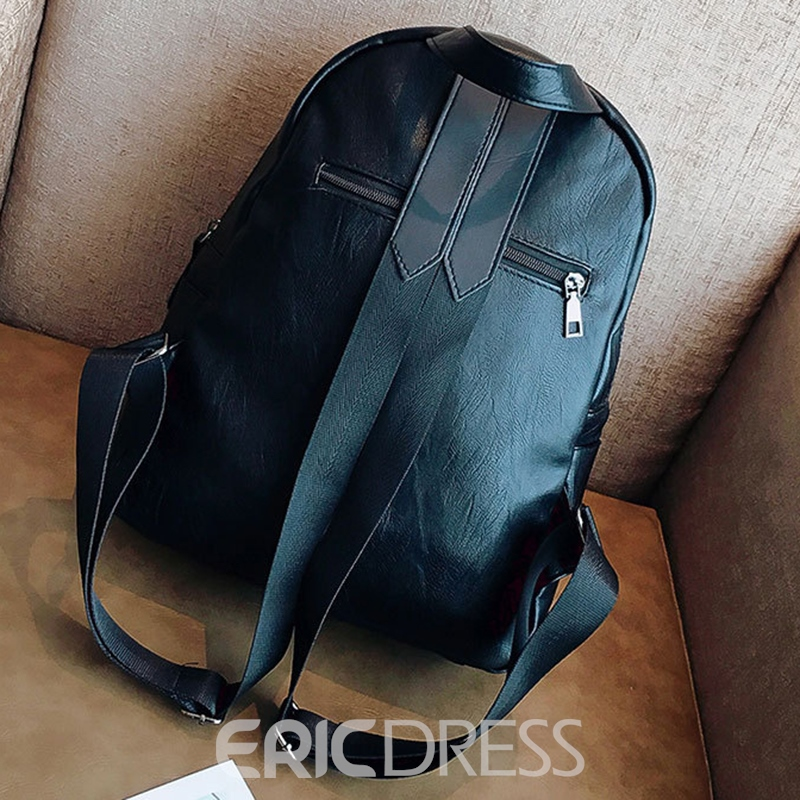 Ericdress Preppy Chic Soft PU Women Backpack
