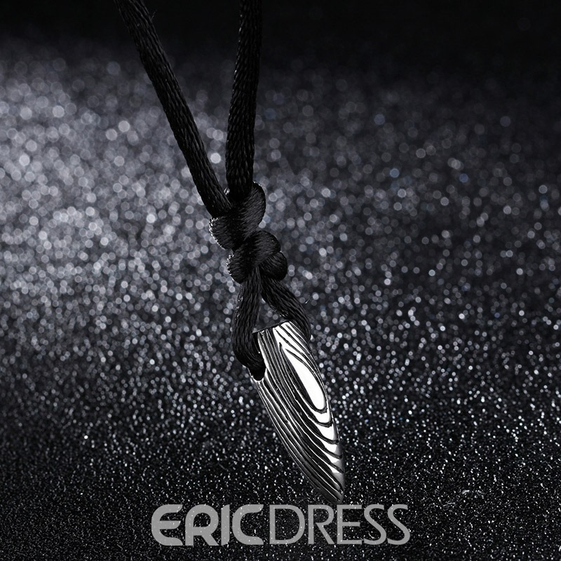 Ericdress Vintage Style Bullet Pendant Men's Necklace
