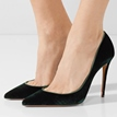 Ericdress Green Pointed Toe Slip-On Women's Pumps