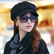 Ericdress Retro Style Pure Color Thicken Warm Women's Hat