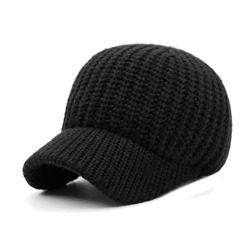 Ericdress Warm Pure Color Knitting Leisure Mens Hat