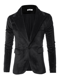 Ericdress Notched Lapel Slim Fit Mens Blazer