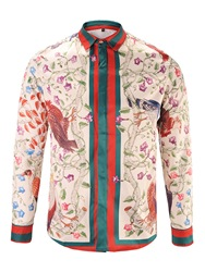 Ericdress Floral Print Lapel Long Sleeve Mens Shirt