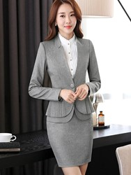 Ericdress Jacket and Bodycon Skirt Womens Suit