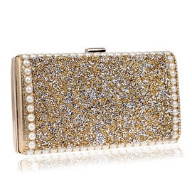 Ericdress Luxurious Dazzling Solid Color Clutch
