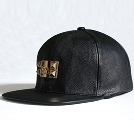 Ericdress Hip-Pop Style PU Leather Metal Buckle Women's Hat