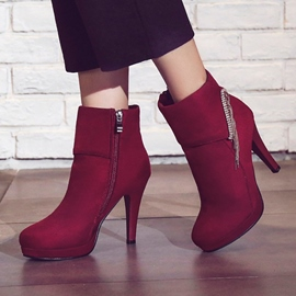 Ericdress Tassel Plain Round Toe Women's High Heel Boots
