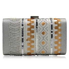 Ericdress Shining Sequins Embroidered Design Clutch
