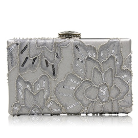 Ericdress Sequins Floral Decoration Evening Clutch