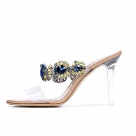 ericdress Strass Slip-On Stiletto Ferse Mules Schuhe