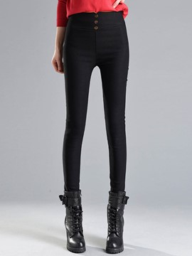 Ericdress Fleece High-Waist Women's Leggings