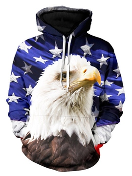 Ericdress 3D Eagle Print Loose Men's Hoodie