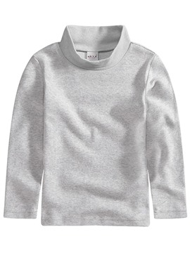 Ericdress Plain Turtleneck Warmth Girl's T-Shirt