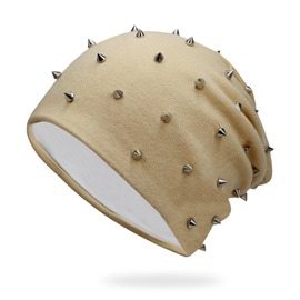 Ericdress Stylish Solid Color Rivet Winter Hat for Women&Men