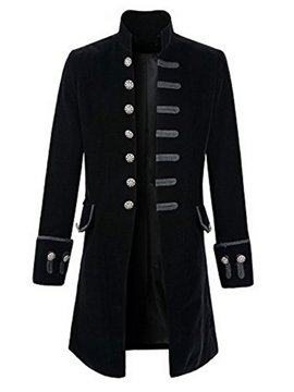 Ericdress Plain European Style Long Men's Woolen Coat
