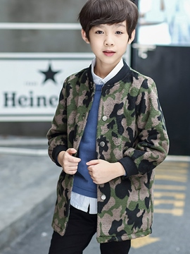 Ericdress Camouflage Print Long Sleeve Zipper Boy's Coat