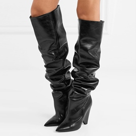 Ericdress Fashion Pointed Toe Slip-On Women's Knee High Boots