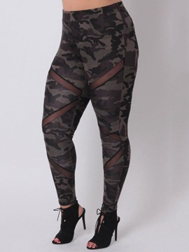 Ericdress Camouflage See-Through Women's Leggings