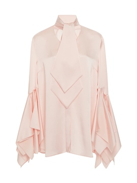 Ericdress Plain Hollow Ruffles Blouse