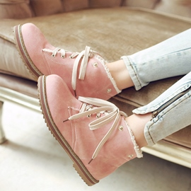 Ericdress Warm Lace-Up Plain Women's Ankle Boots