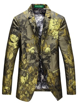 Ericdress Floral Print Notched Lapel Men's Blazer