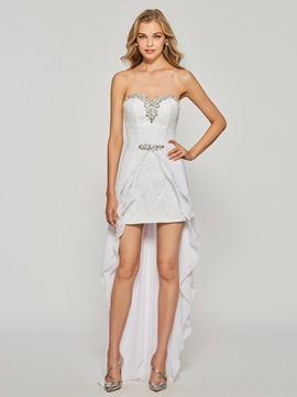 ericdress gaine cristal dentelle robe de cocktail sweetheart