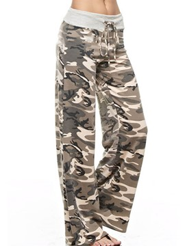 Ericdress Loose Camouflage Women's Pants