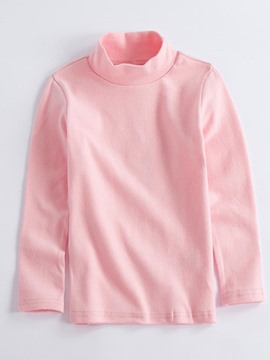 Ericdress Plain Turtleneck Hedging Boys & Girls T-Shirt