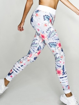 Ericdress Floral Patchwork Polyester Breathable Ankle Length Leggings