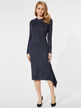 Ericdress Asymmetrical Mid-Calf Sheath Dress